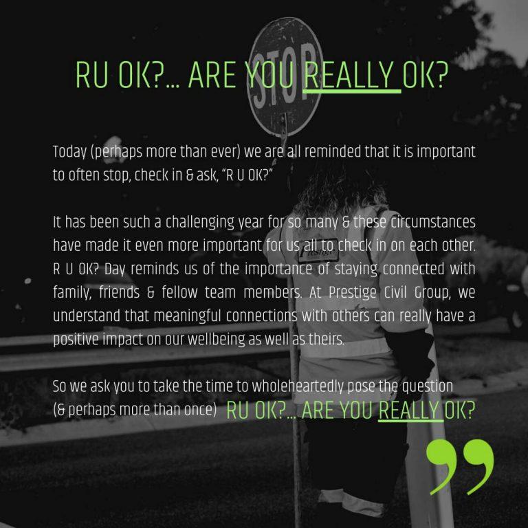 RU OK? Are you REALLY OK?