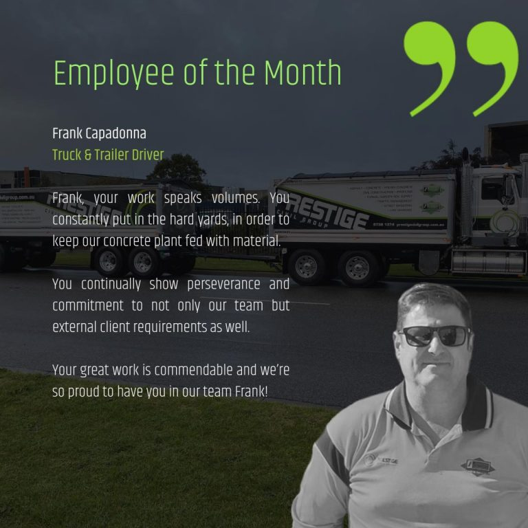 Employee of the Month - August